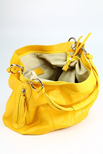 Bag Donna Shopping Belli Pelle In Di Giallo Colore Ow5wqEd