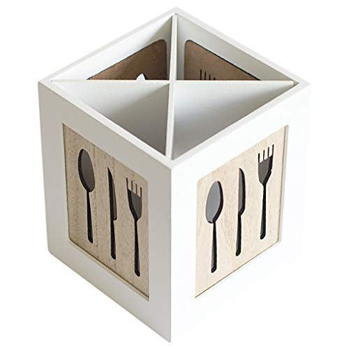 Fan-Ling Creative Tableware Storage Basket Hollow Box,Multifunctional Wooden Storage Box,Chopsticks, Spoons, Fork Storage Tools, Wearable &Durable