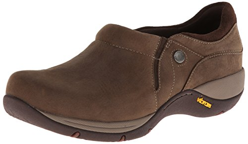 Dansko Women's Celeste Slip-On Loafer,Brown Milled Nubuck,36 EU/5.5-6 M US