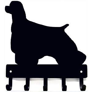 The Metal Peddler Cocker Spaniel Dog Leash Hooks & Hanger - Large 9 inch Wide 2