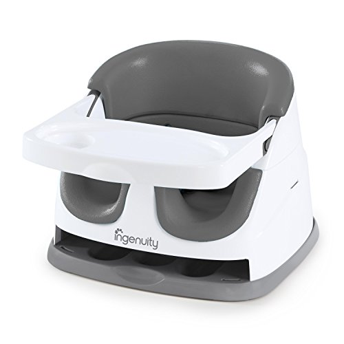 - Ingenuity Baby Base 2-in-1 Seat - Slate - Booster Feeding Seat