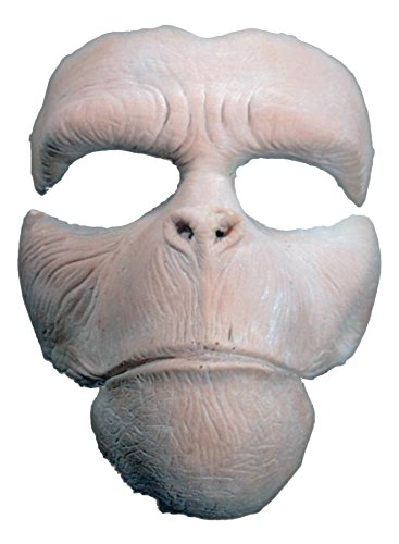 UHC Men's Planet of the Apes Prosthetic Chimp Party Latex Halloween Costume Mask]()