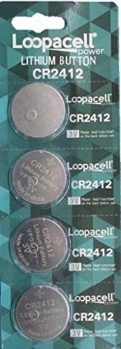 Loopacell CR2412 CR 2412 Lithium 3V 4 Batteries