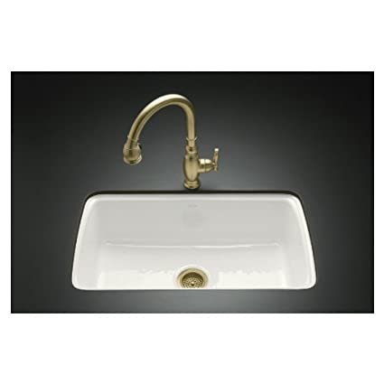 KOHLER Single-Basin Cast Iron Undermount Kitchen Sink 5864 ...