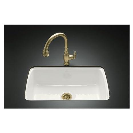 KOHLER Single-Basin Cast Iron Undermount Kitchen Sink 5864-5U-0 ...