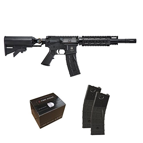 Tiberius Arms T15 Paintball Gun Rifle - Black w/ 2 Extra Mags & 100 First ()