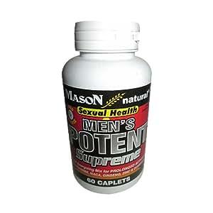Mason Natural Mens Potent Supreme Caplets Sexual Health  Ea