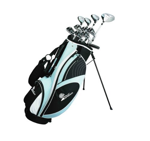(Palm Springs Golf Visa Lady All Graphite Hybrid Club Set & Stand Bag)
