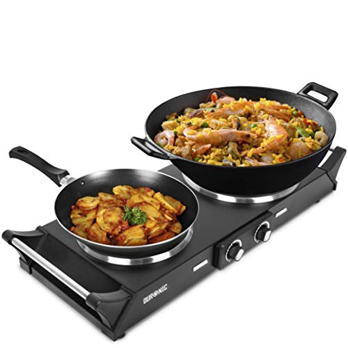 Duronic Hot Plate HP2BK | Table-Top Cooking | 2500W | Black Steel Electric...