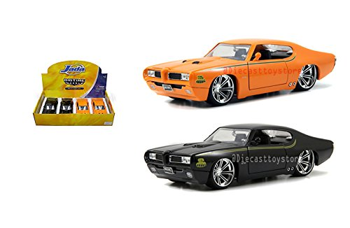 "NEW DIECAST TOYS CAR JADA 1:24 DISPLAY BIG TIME MUSCLE 1969 PONTIAC GTO ""THE JUDGE"" 1PC RANDOM COLOR WITHOUT RETAIL BOX 90217XW"