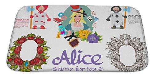 Gear New Memory Foam Bath Rug, Alice In Wonderland Icons Set, 34x21, 6583156GN