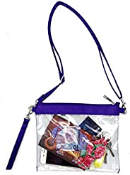 Wanty Clear Crossbody Purse Tote Bag Clear Toiletry Bag Clear Gameday Bag
