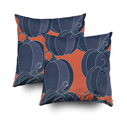 Shorping Decorative Throw Pillow Cover, Home Décor Throw Pillow Cushion Cover Pumpkins Seamless Pattern Halloween Background Colorful Rapport for Textile Fabric Wallpaper -