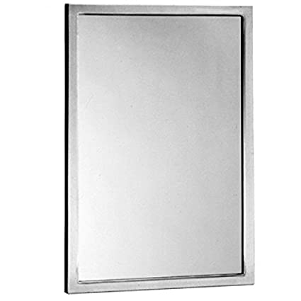 Amazoncom Bobrick B 290 2472 Mirror 24 X 72 Glass Wstainless