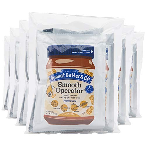 All-Natural Peanut Butter, Smooth, Gluten Free, Vegan, No-Stir, 1.5 oz Packets, 6-4 Packs (24 Packets Total)