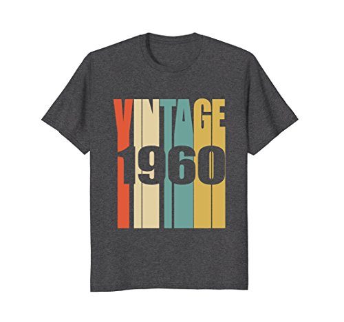 1960's Mens Shirt - Mens Retro Vintage 1960 T-Shirt 58 yrs old Bday 58th Birthday Tee Large Dark Heather