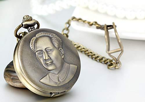 ZJZ Ny fickur vintage brons mekanisk hand vind fickur halsband