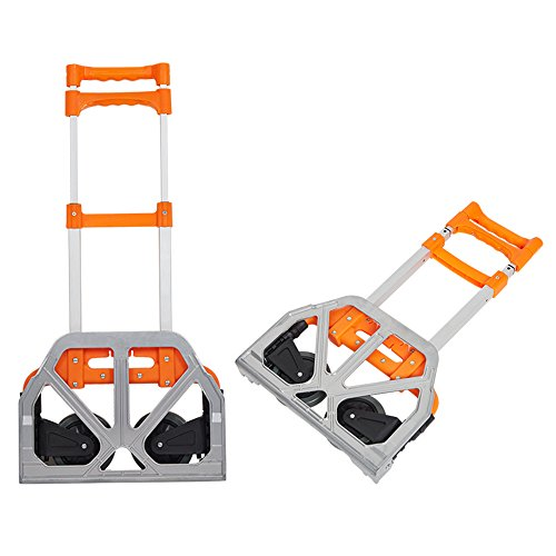 Lucky Tree Folding Hand Truck Aluminium Portable Dolly Cart with Wheels for Office Travel Home Use 170lbs Capacity by Lucky Tree (Image #1)