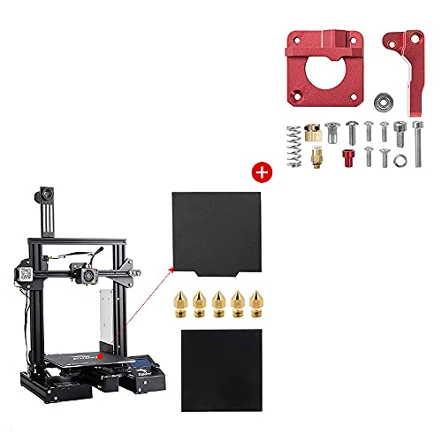 Creality Ender 3 Pro 3D Printer with Glass Plate, Magnet Build Surface Plate and Creality Aluminum Extruder Drive Feeder