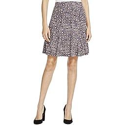 NIC+ZOE Women\'s Shifty Tiles Skirt, Multi, X-Large