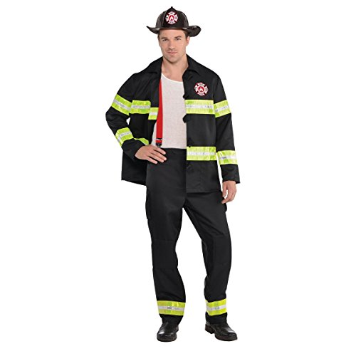 amscan Adult Rescue Me Firefighter Costume - X-Large (44-46), Multicolor]()