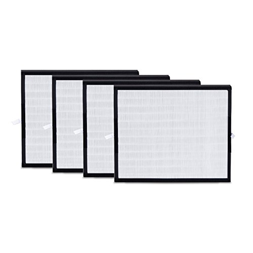 Alen BreatheSmart FIT50 HEPA-OdorCell Replacement Filter technology to Reduce Allergies & Pet Odors (FF50-MP-4, 4-Pack)