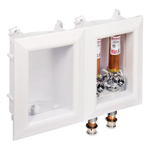 Ox Box Washing Machine Outlet Box with Water Hammer Arrestor
