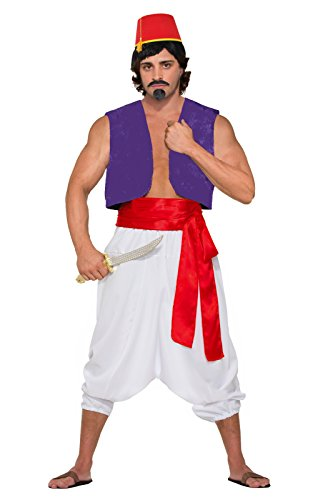 [Men's Desert Prince Full Costume (Small/Medium)] (Jasmine And Aladdin Costumes)