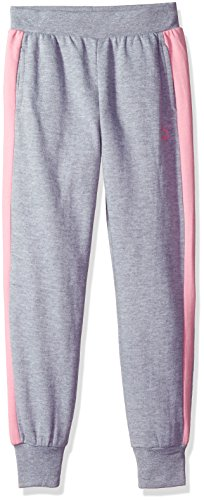 Price comparison product image PUMA Big Girls' T7 Jogger Pants, Light Heather Grey, Medium (8/10)