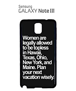 Topless Naked Women Mobile Cell Phone Case Samsung Note 3 White