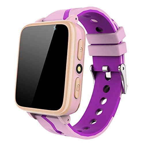 Kids Smart Watch for Boys Girls - HD Touch Screen Sports Smartwatch Phone with Call Camera Games Recorder Alarm Music Player for Children Teen Students Age 3-12 (G612-Pink)