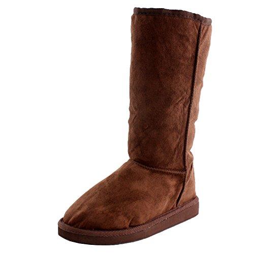 West Blvd Bogota Winter Comfort Boots, Brown Suede, 8
