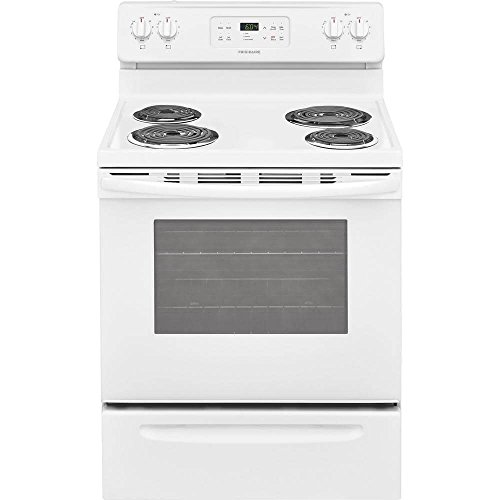 Frigidaire FFEF3016TW 30 Inch Electric Freestanding Range with 4 Coil Elements, 5.3 cu. ft. Primary Oven Capacity, in White (Freestanding Electric Coil Range)