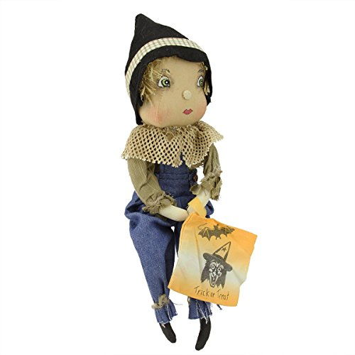 GALLERIE II 15 Gathered Traditions Trick or Treat Kids Willis Scarecrow Boy Decorative Halloween Figure
