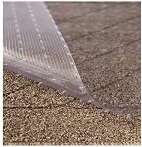 Amazon Com Resilia Clear Vinyl Plastic Floor Runner Protector For Low Pile Carpet Non Skid Decorative Pattern 27 Inches Wide X 12 Feet Long Furniture Decor
