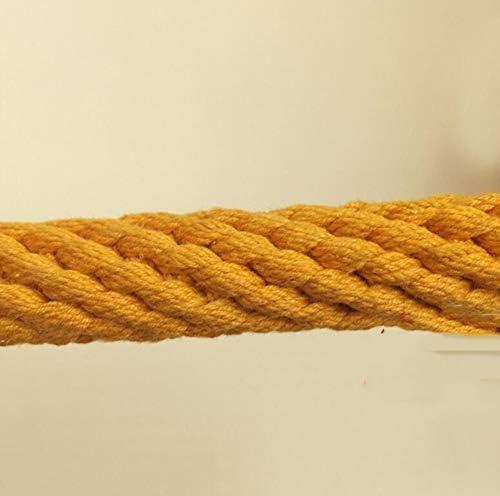 登山ロープ、6mm/10m/20m/30m エスケープ救助ロープ、パラシュート静的な屋内ロープ、安全懸垂下降ロープクライミング機器,Yellow,20m