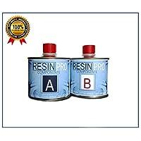 Resina epossidica ultra trasparente 320 g, bicomponente a B-SUPER, trasparente, effetto acqua, per creazione di gioielli in resina, resina trasparente per creazioni stampi-BESTSELLER di RESIN PRO