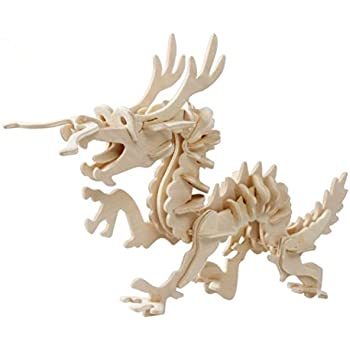 amazon com volksrose large 3d wooden jigsaw puzzle dragon