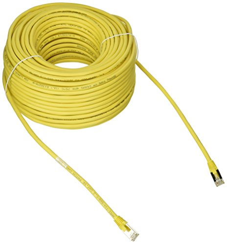 (C2G 28715 Cat5e Cable - Snagless Shielded Ethernet Network Patch Cable, Yellow (150 Feet, 45.72 Meters))