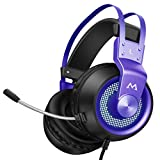 Mpow Gaming Headset, [50mm Drivers], [Bass Surround Sound], [Noise Reduction Mic], In-line Control,  PC, PS4 Headset, Gaming Headphones for Xbox One, Nintendo Switch