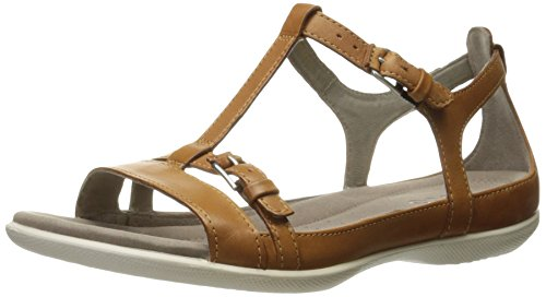 ECCO Women's Women's Flash T-Strap Flat Sandal, Lion, 37 EU/6-6.5 M (Ecco Flash)