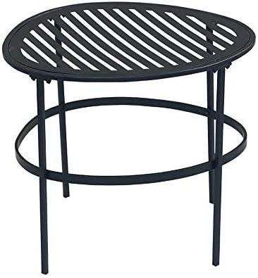 テーブル 多目的な屋内および屋外の装飾を組み立てやすい、モダンな黒の小さなラインの金属コーヒーエンドテーブルと組み合わせた形状とシンプルなライン モダンなラウンドコーヒーサイドテーブル (Size : 44*36*40cm)