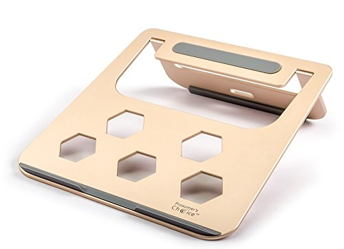 Lift Tab Plastic Screen Frame - Prosumer's Choice Aluminum Laptop Stand, Tablet Desktop Stand for Macbook, iPad Pro, Surface Pro (Gold)
