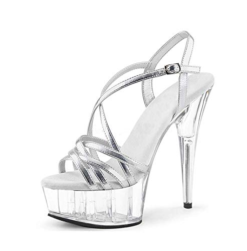 df9cb96d84b97 Amazon.com : GHFJDO Women Pleaser Heels, Clear High Heels Stripper ...