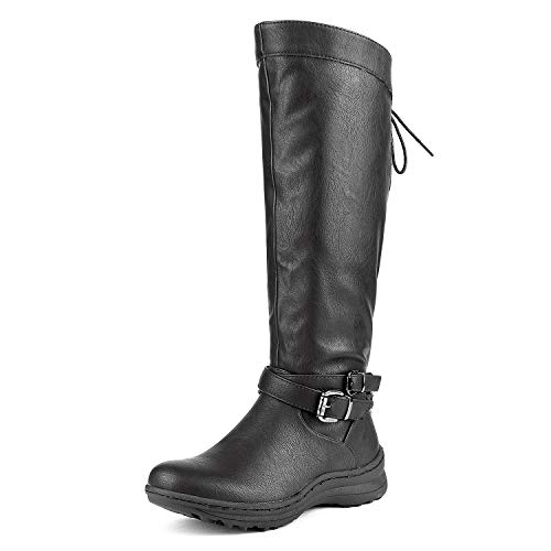 DREAM PAIRS Women's TORKA Black Faux Fur Knee High Snow Boots Size 8 B(M) (Best Dream Pairs Boots For Women)