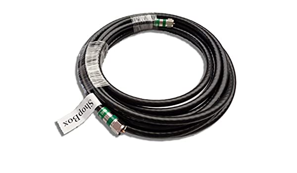 Quad Shield RG-6 cable coaxial de 75 ohmios para (CATV, TV por satélite, Negro o Internet de banda ancha): Amazon.es: Electrónica