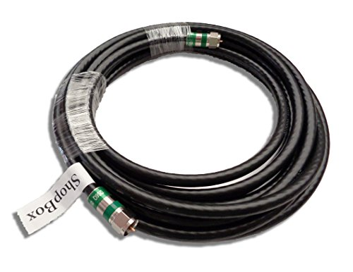 Black Quad Shield RG-6 Coax Cable for (CATV, Satellite TV, or Broadband Internet) (8 Foot) by -