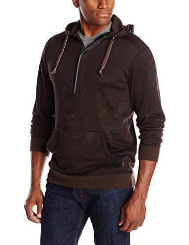 Thermal 1/4 Zip (ExOfficio Men's Isoclime Thermal Hoody, Black/Dark Charcoal, Large)