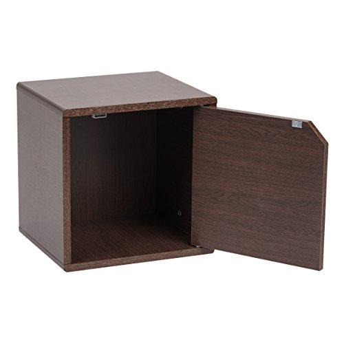 IRIS USA, QR-34D, Wood Storage Cube with Door, Brown Oak, 1 Pack by IRIS USA, Inc. (Image #3)