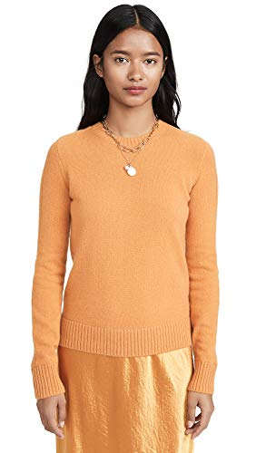 Vince Women's Runner Rib Cashmere Sweater, Sienna, Orange, Large